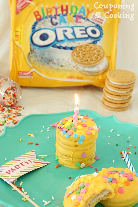 Birthday Cake Golden Oreos