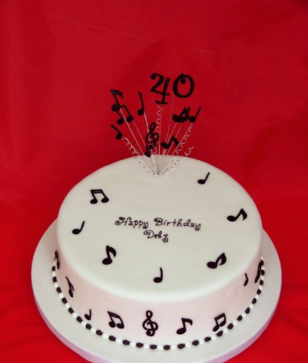 Birthday Cakes with Music Theme