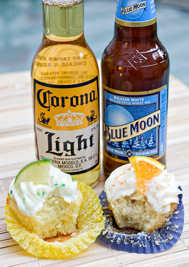 Blue Moon Beer Cupcakes