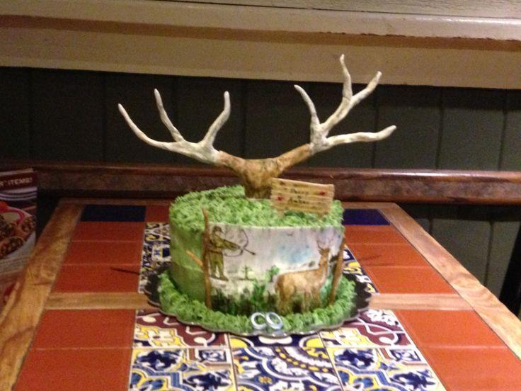 Bow Hunting Birthday Cake