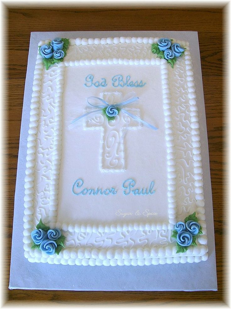 Buttercream Baptism Sheet Cake