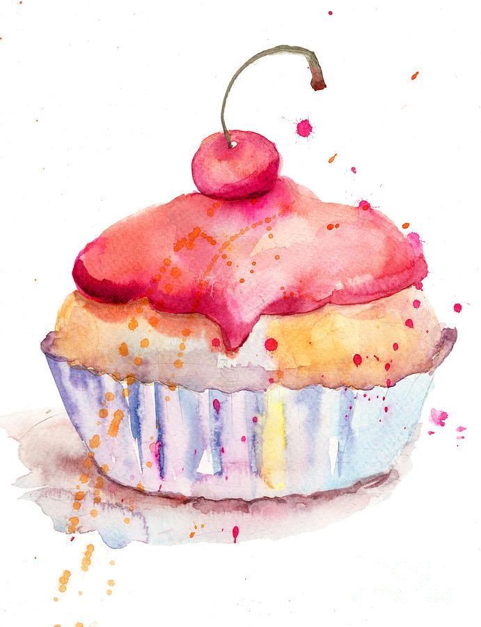 10 Photos of Watercolor Paintings Of Birthday Cakes
