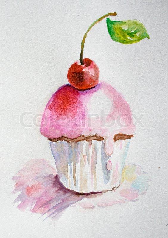 Cake Watercolor Illustration