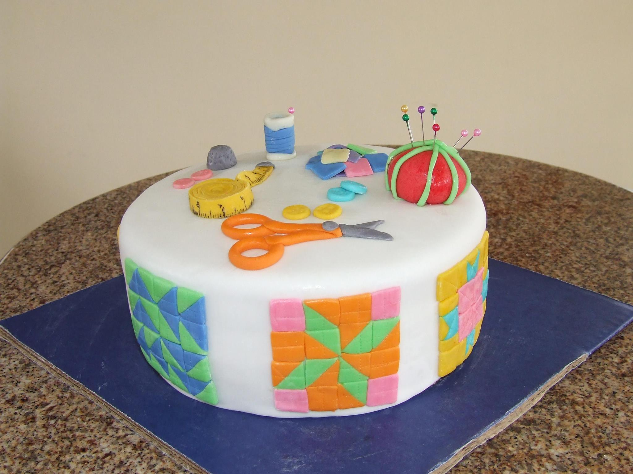 Cakes Decorated Like Quilts