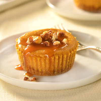 Caramel Pumpkin Cheesecake with Pecans