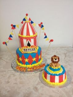 9 Photos of Buttercream Circus Cakes