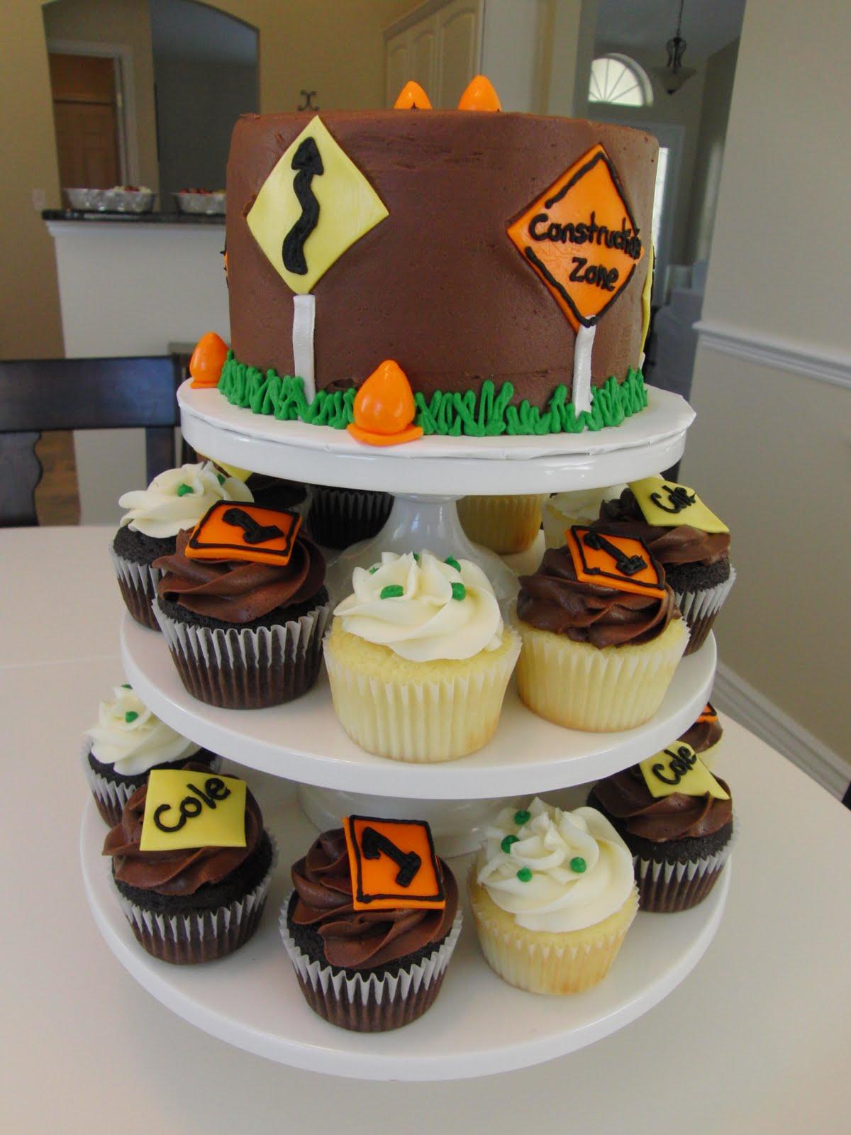 Construction Cupcake Cake