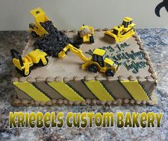 Construction Sheet Cake