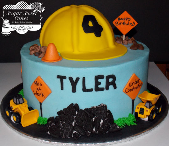 Construction Zone Birthday Cake