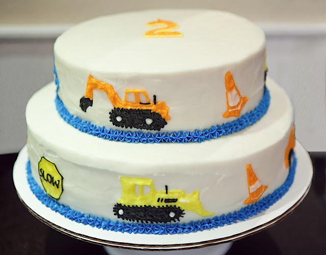 Construction Zone Cake
