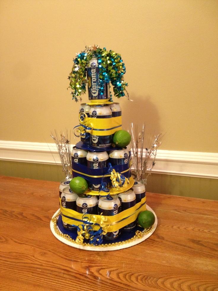 Corona Beer Birthday Cake
