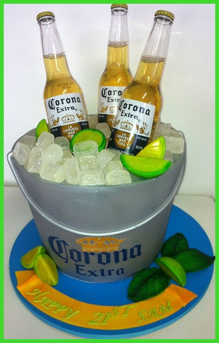Corona Beer Happy Birthday Cake