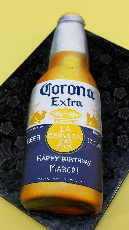 Corona Bottle Birthday Cake