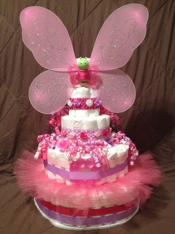 Fairy Butterfly Diaper Cake