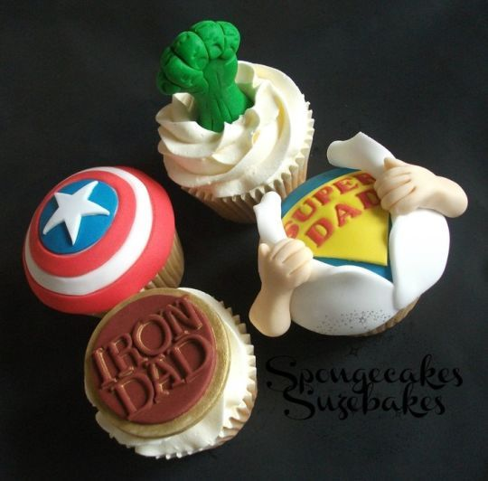 Father's Day Cake and Cupcakes