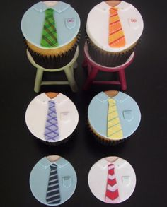 Father's Day Tie Cupcake Topper