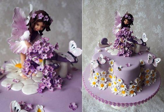 Flower Fairy Birthday Cake