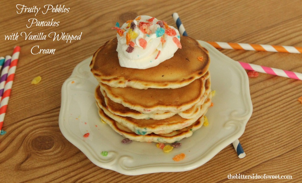 Fruity Pebbles Pancakes Whip Cream