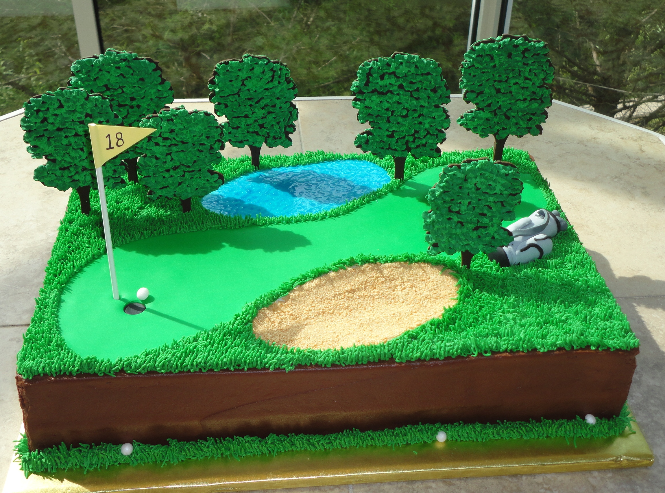 Golf Course Cake Ideas