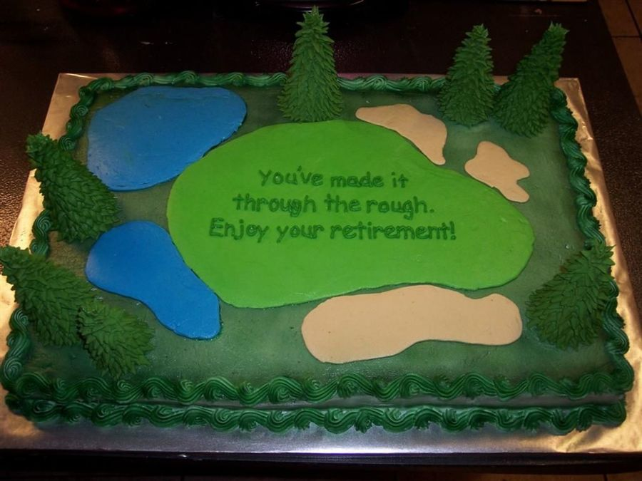 Golf Retirement Cake Ideas