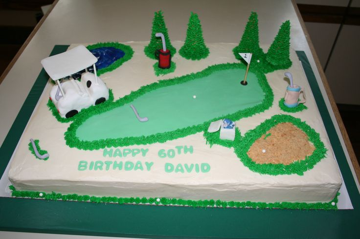 Golf Themed Sheet Birthday Cake