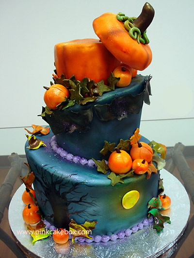 Halloween Pumpkin Wedding Cake