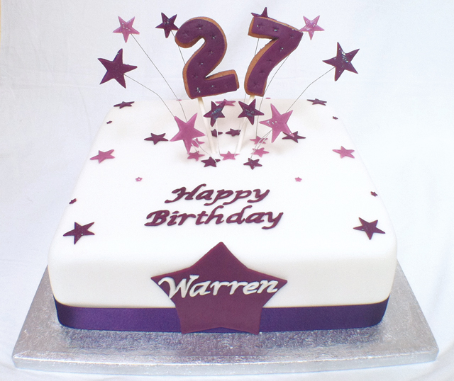 Happy 27 Birthday Cake Designs