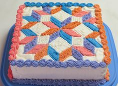 Happy Birthday Quilt Cake