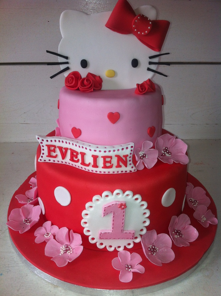 10 Photos of Birthday Cakes For Girls Hello Kitty Stamp