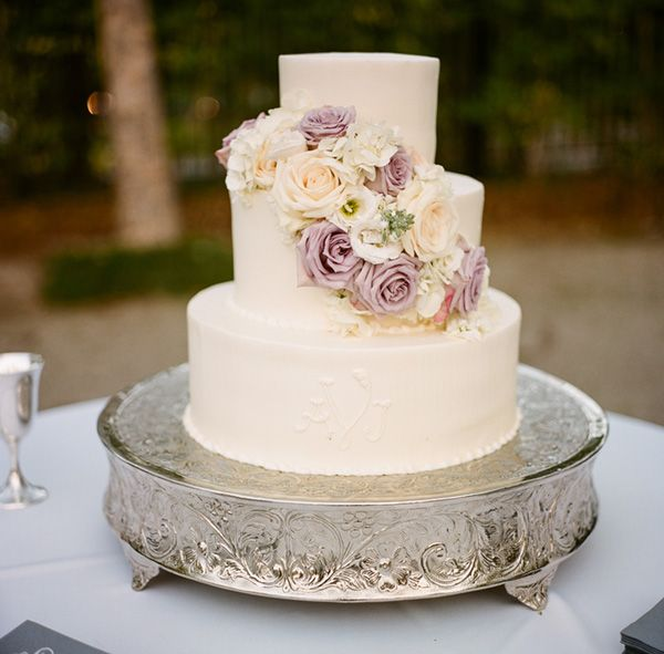 Lavender and Cream Wedding Cake