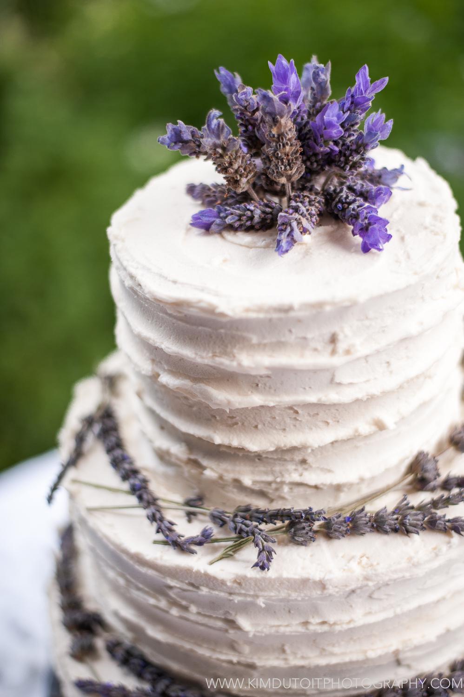 Lavender Rustic Wedding Cake