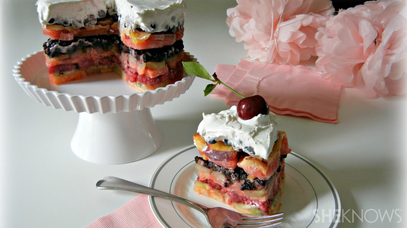 Layer Cake with Fresh Fruit