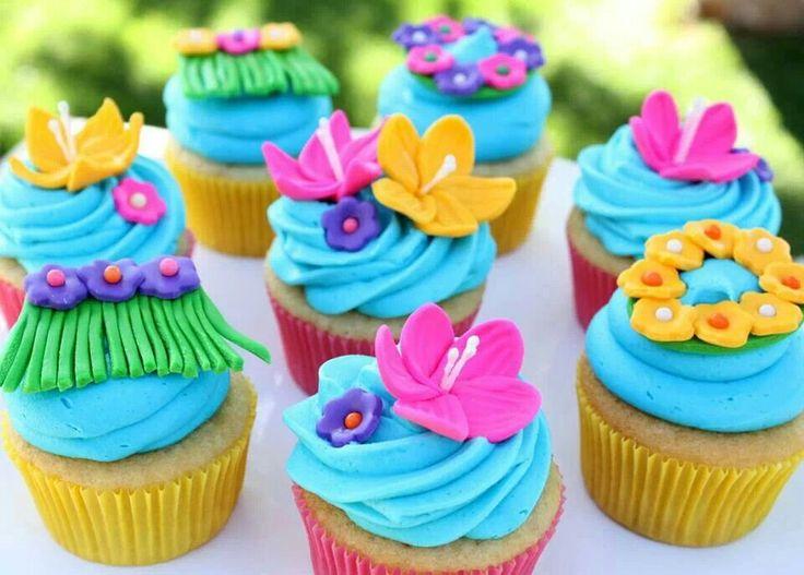 Luau Birthday Party Cupcakes