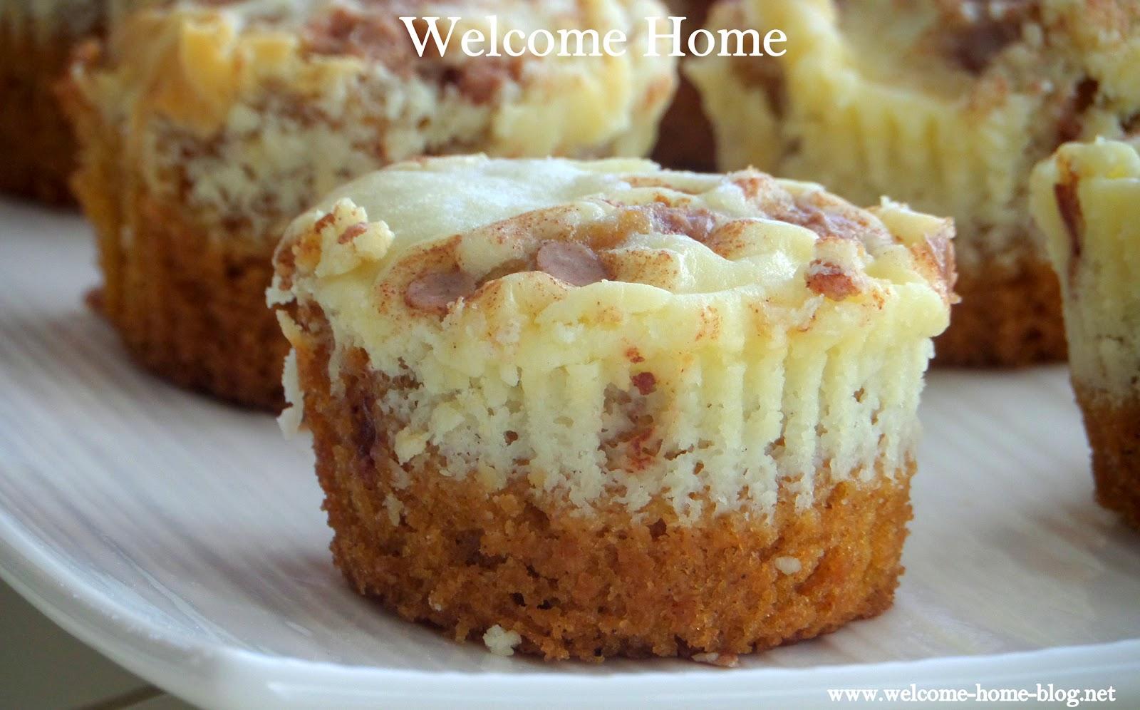 Mini Pumpkin Cheesecake Muffins