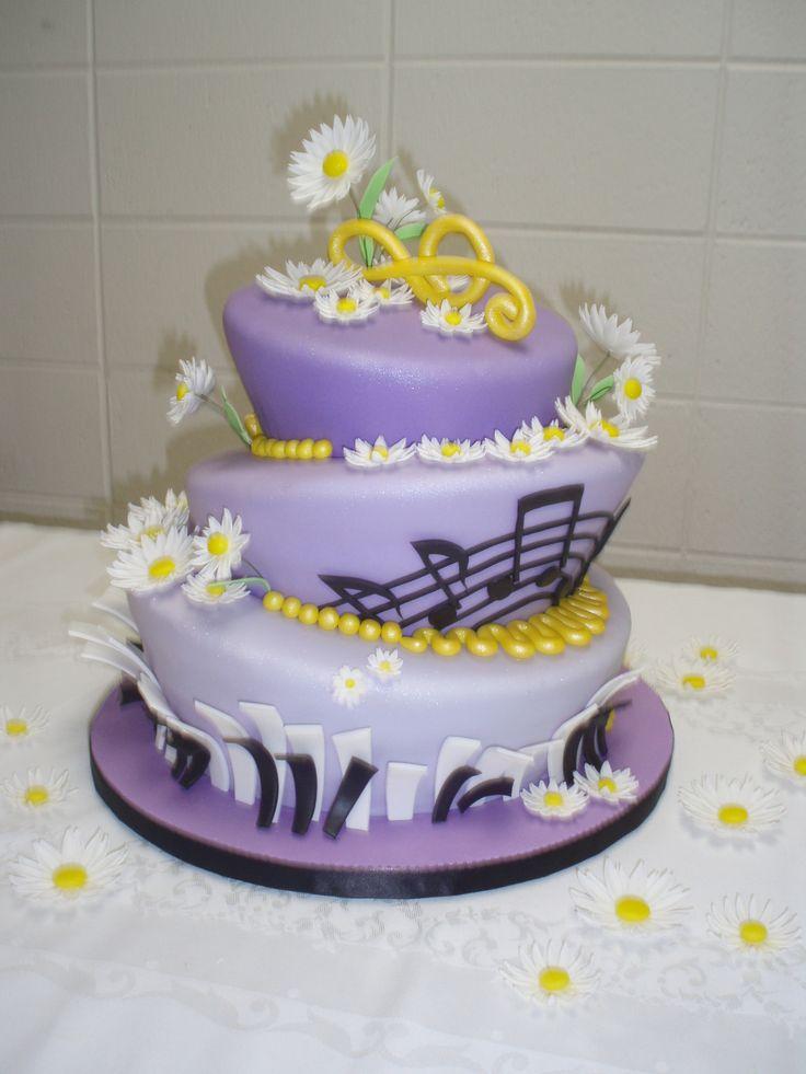 Music Note Sweet 16 Birthday Cakes
