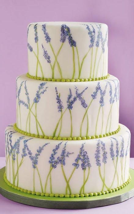Painted Wedding Cake Lavender