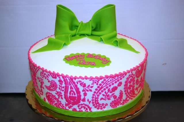 Paisley Birthday Cake