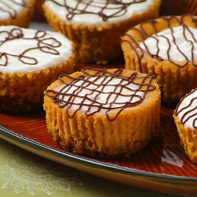 Pumpkin Cheesecake Tarts - Crushed