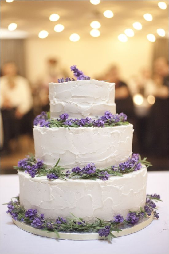Purple and Lavender Wedding Cake