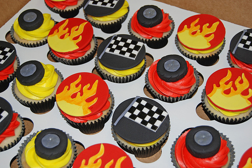 Race Car Cupcake Birthday Cake