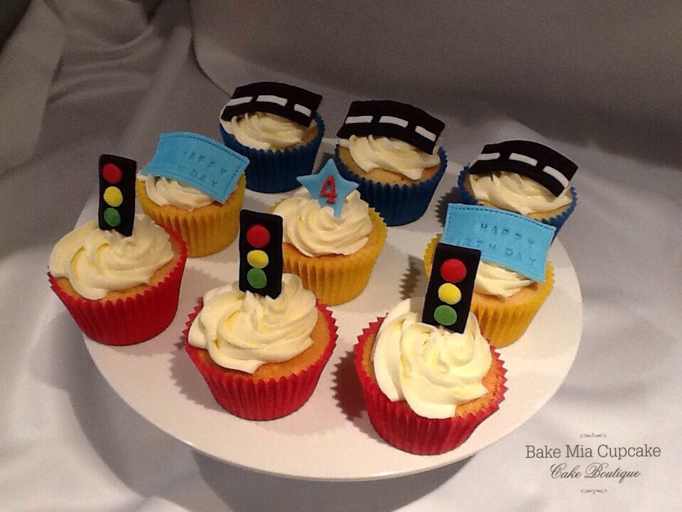 Race Car Cupcake Cake