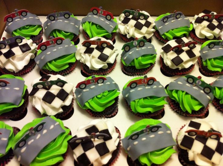 Race Car Cupcake Ideas