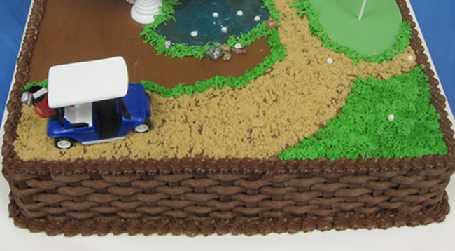 Retirement with Golf Theme Cake