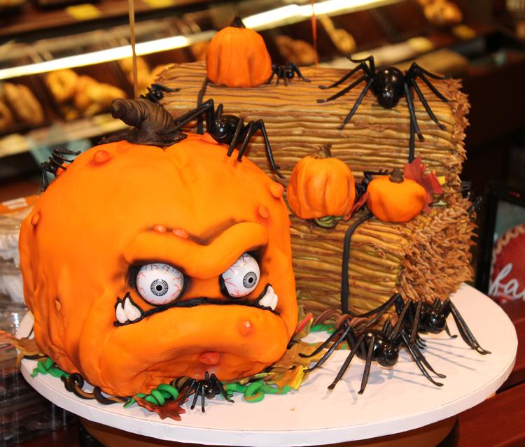 Scary Pumpkin Birthday Cake