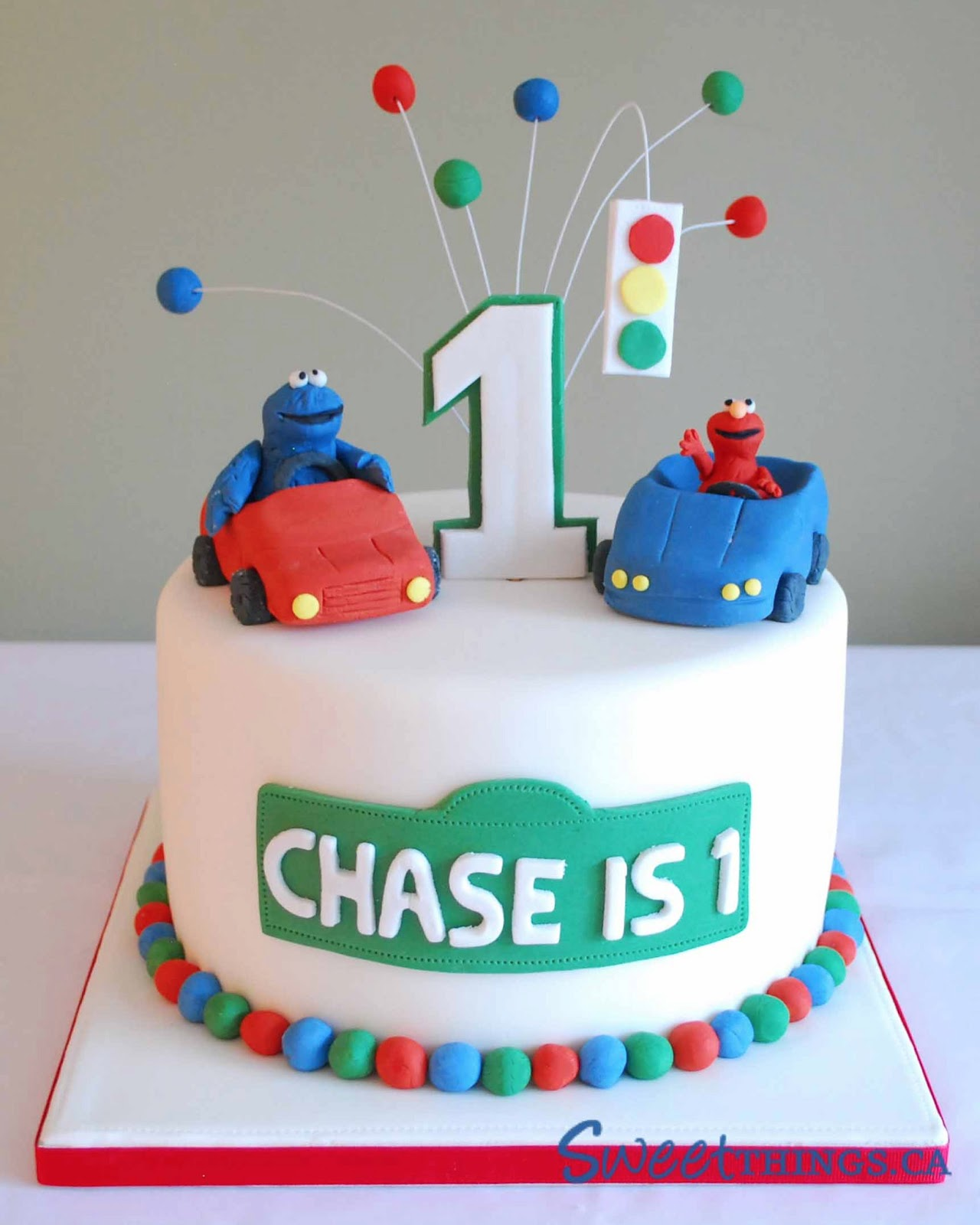 7 Photos of Sesame Street Themed Birthday Cakes