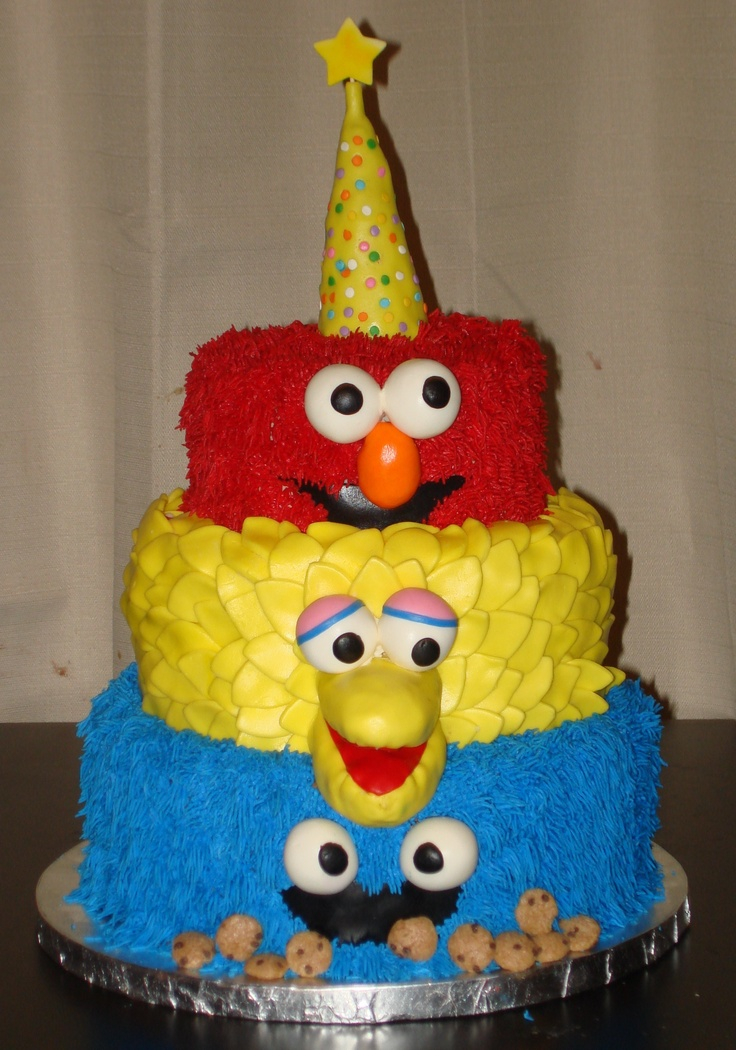 10 Photos of Sesame Birthday Cakes