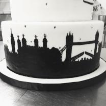 Silhouette Skyline Cake