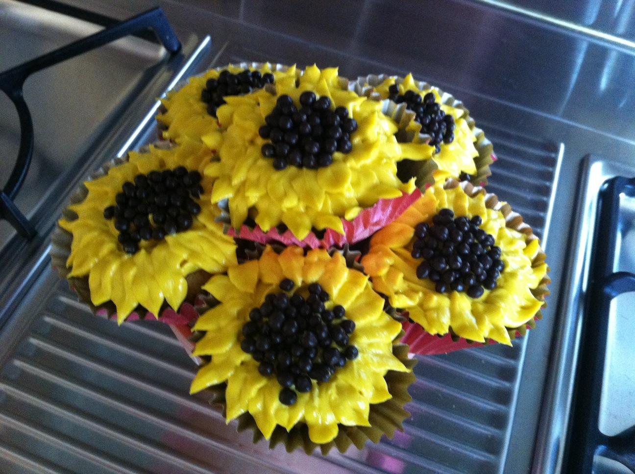 Sunflower Cupcake Pot