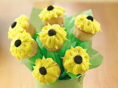 Sunflower Mini Cupcake Bouquet