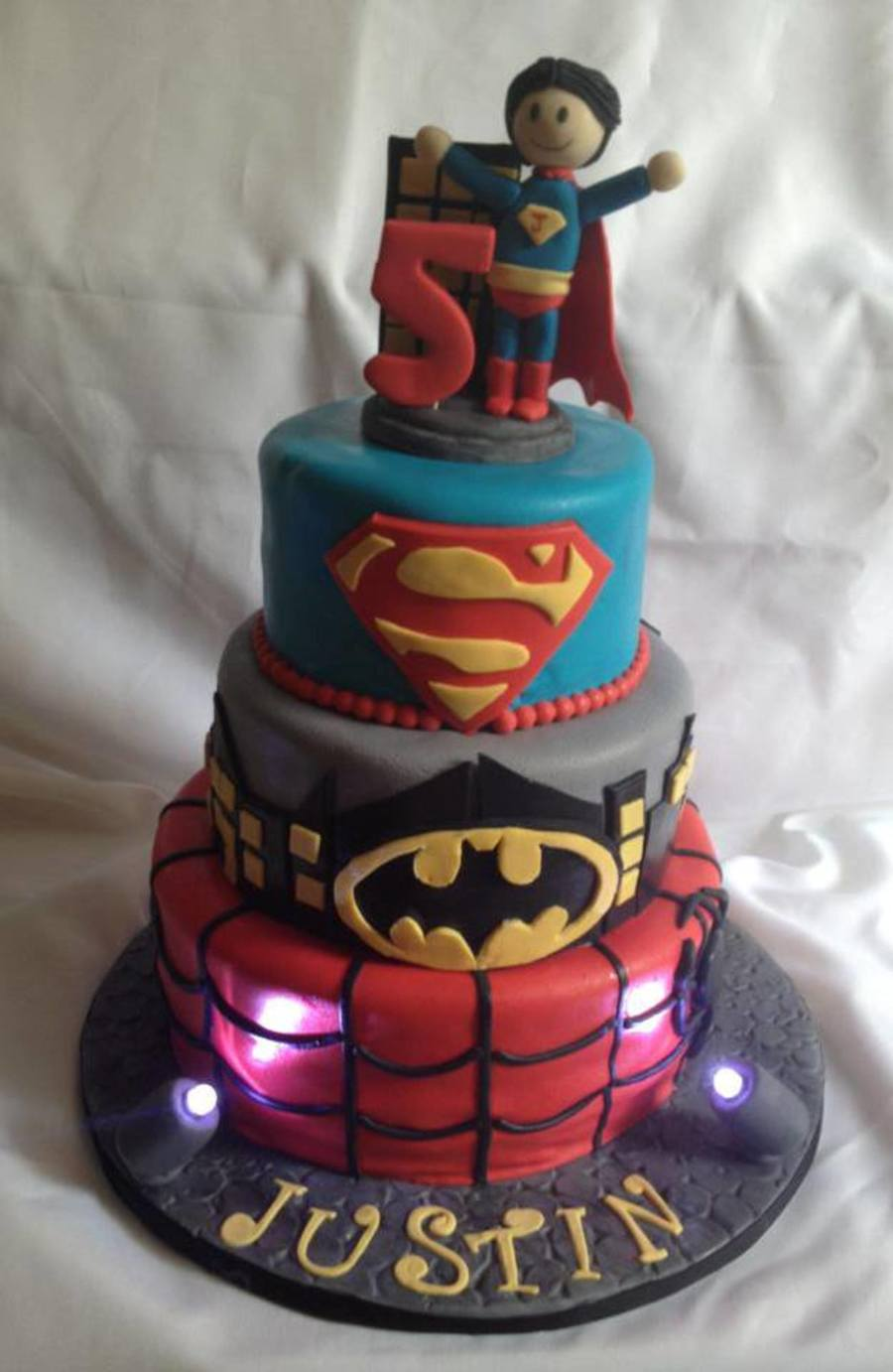 Superman Batman Birthday Cake